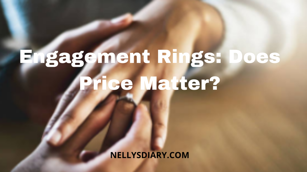 should the price of an engagement ring matter?